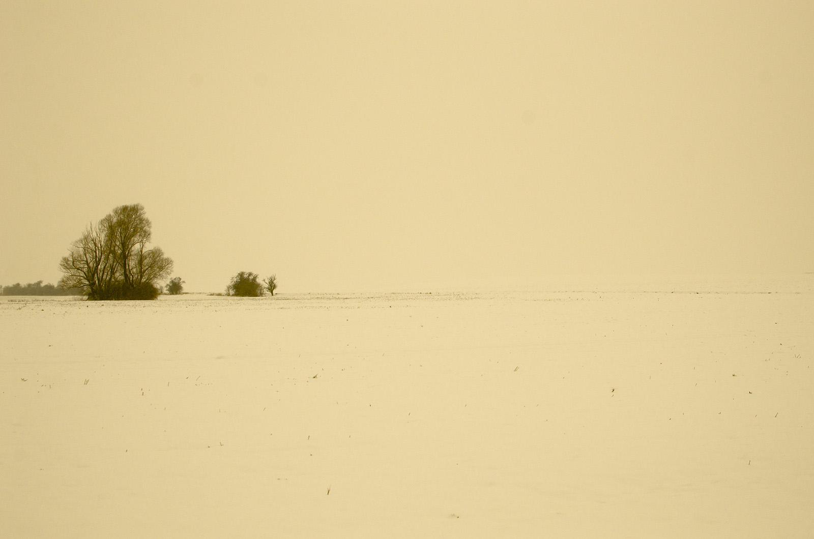 """Země nikoho"" ze série Nostalgická zima"