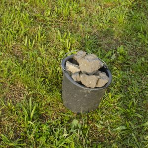 Kameny, které jsme přidali do základu sloupků