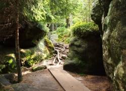 NP Stolové hory, skutečné skalní bludiště